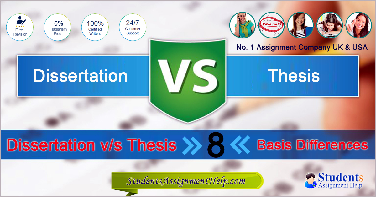 Dissertation vs thesis 8 basis differences