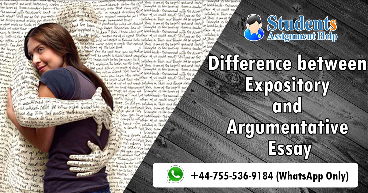 Difference between Expository and Argumentative Essay