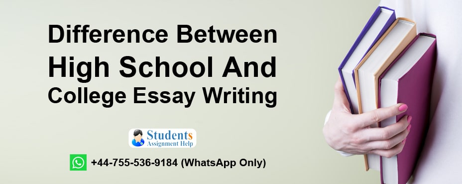 High School And College Essay difference
