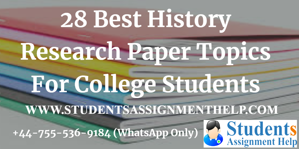 Interesting american history research paper topics