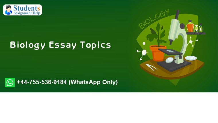 Biology Essay Topics