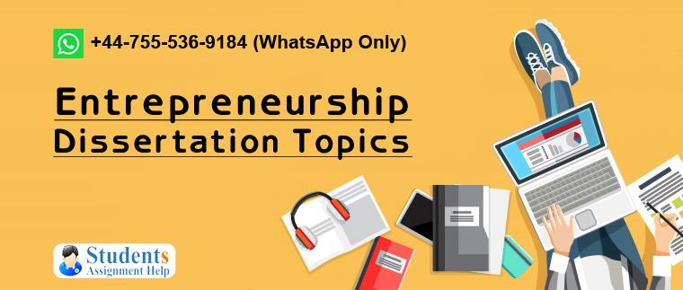 Entrepreneurship phd thesis