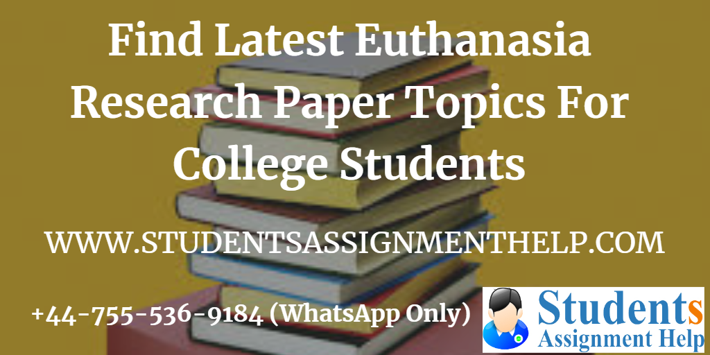 Research papers about euthanasia