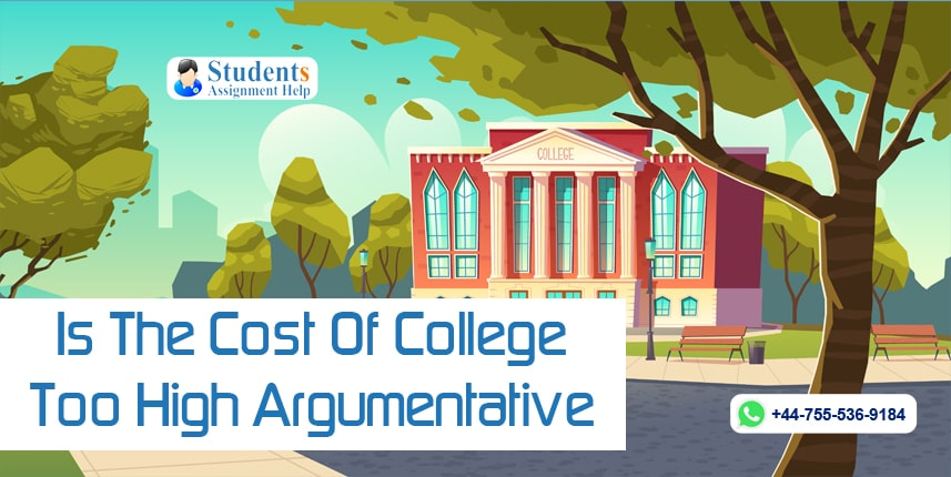Is The Cost Of College Too High Argumentative