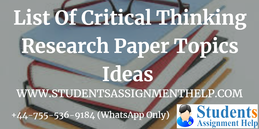 Free argumentative critical thinking topics on business