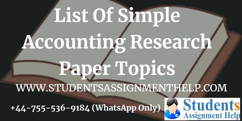 Accounting research paper help