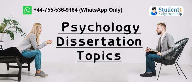 Dissertation on psychology