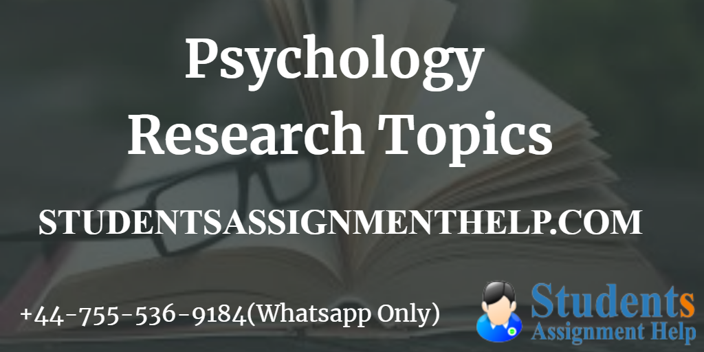 Psychology Research Topics