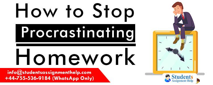 How-to-stop-procrastinating-homework