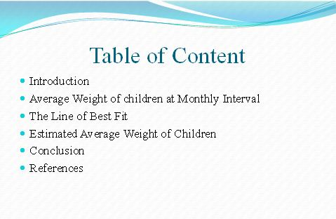 table of content for unit 6 decision assignment