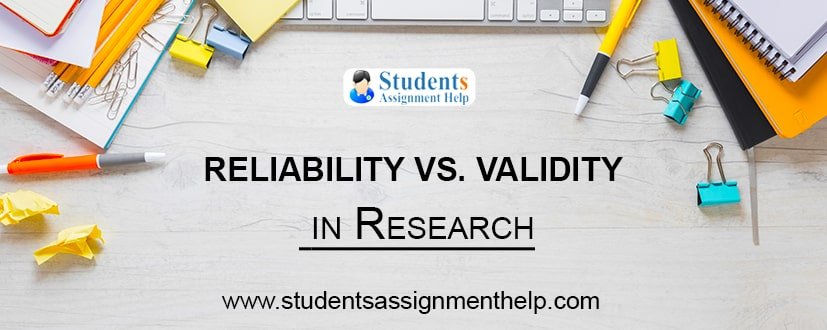 Reliability vs. Validity in Research