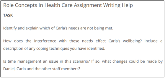 HUCL1101 Role Concepts in Healthcare Assessment Answer