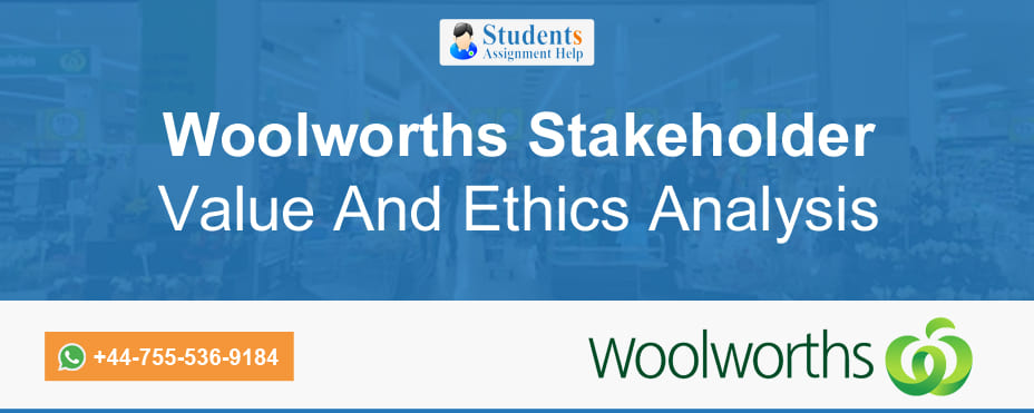 Woolworths Stakeholder Value and Ethics Analysis