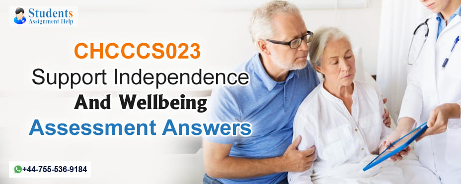 CHCCCS023 Support Independence and Wellbeing Assessment Answers