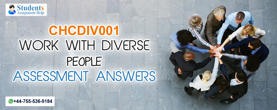 CHCDIV001 WORK WITH DIVERSE PEOPLE ASSESSMENT ANSWERS