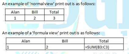 You are now required to preview, adjust and print your spreadsheet