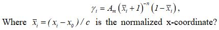 distribution of the vortex sheet
