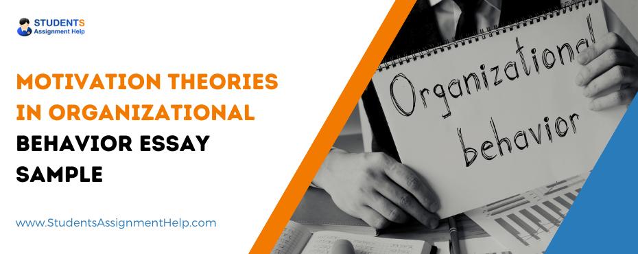 Motivation Theories in Organizational Behavior Essay Sample
